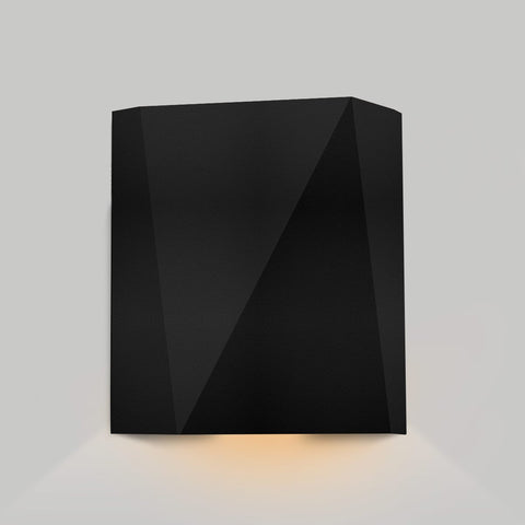 Calx Downlight Outdoor LED Wall Sconce - Textured Black Finish