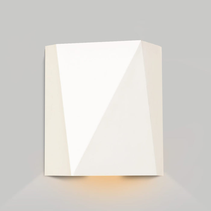 Calx Downlight Outdoor LED Wall Sconce - Textured White Finish
