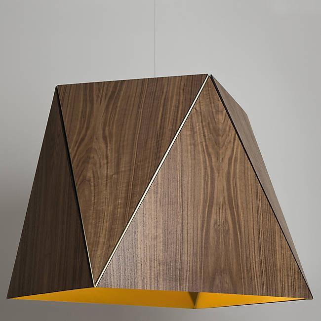 Calx Large Pendant - Oiled Walnut with Brushed Brass Finish