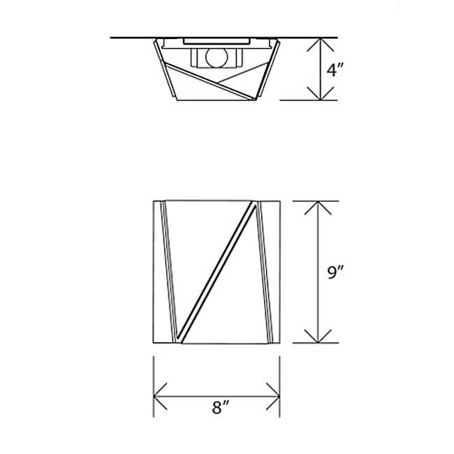 Calx LED Wall Sconce - Diagram
