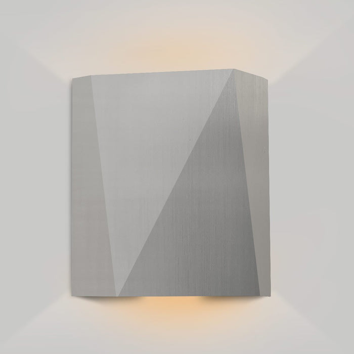 Calx Up/Downlight Outdoor LED Wall Sconce - Marine Grade Brushed Stainless Steel Finish