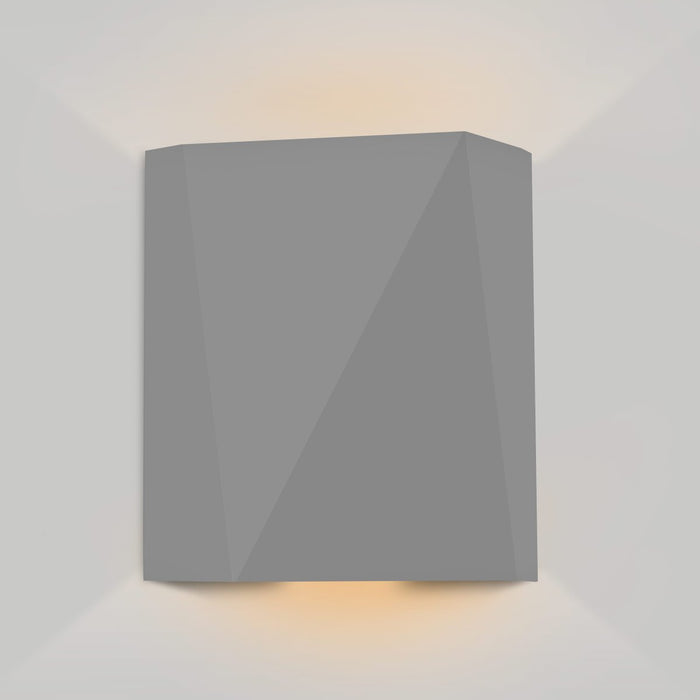 Calx Up/Downlight Outdoor LED Wall Sconce - Matte Gray Finish