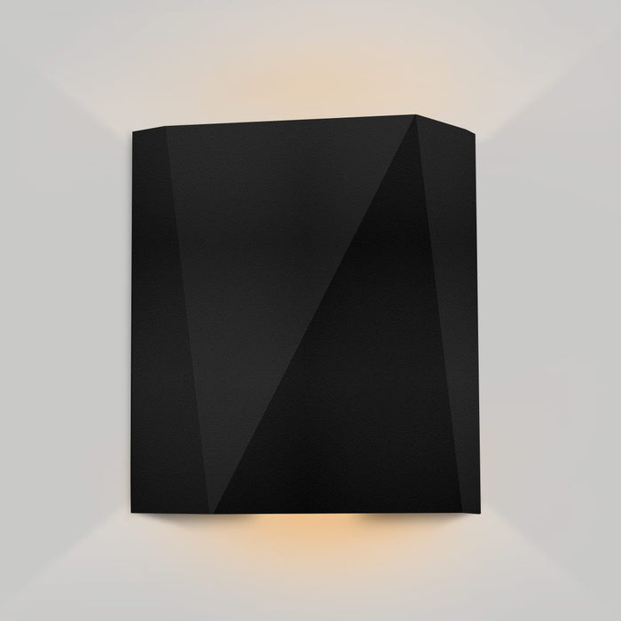 Calx Up/Downlight Outdoor LED Wall Sconce - Textured Black Finish