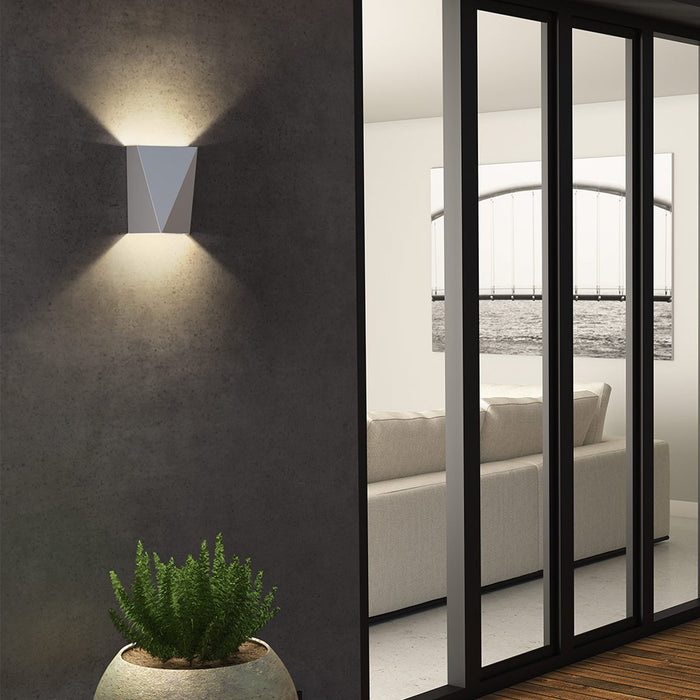 Calx Up/Downlight Outdoor LED Wall Sconce - Display
