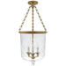 Cambridge Medium Smoke Bell Pendant - Natural Brass Finish