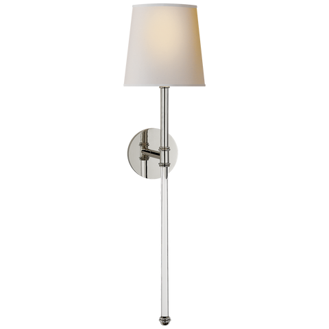 Camille Large Tail Sconce Polished Nickel