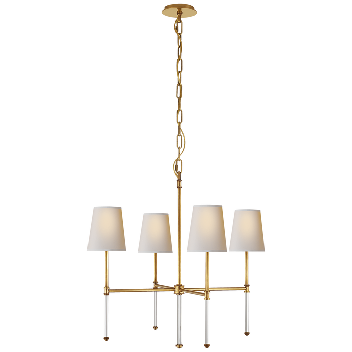 Camille Small Chandelier - Hand-Rubbed Antique Brass