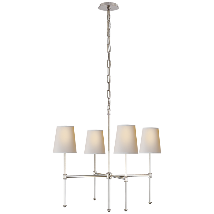 Camille Small Chandelier - Polished Nickel