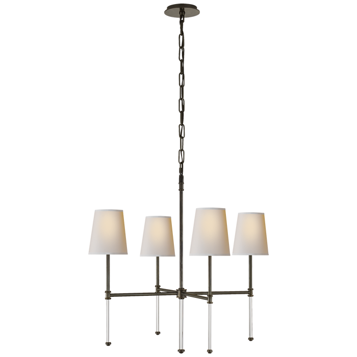 Camille Small Chandelier - Bronze