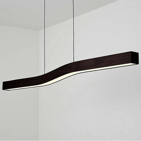 Camur LED Linear Pendant - Dark Satined Walnut Finish