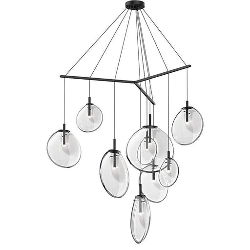 Cantina 9-Light Tri-Spreader LED Pendant - Clear Glass