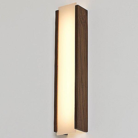 Capio Long LED Wall Sconce - Walnut Finish