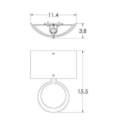 Carlyle Circlet Linen Wall Sconce - Diagram