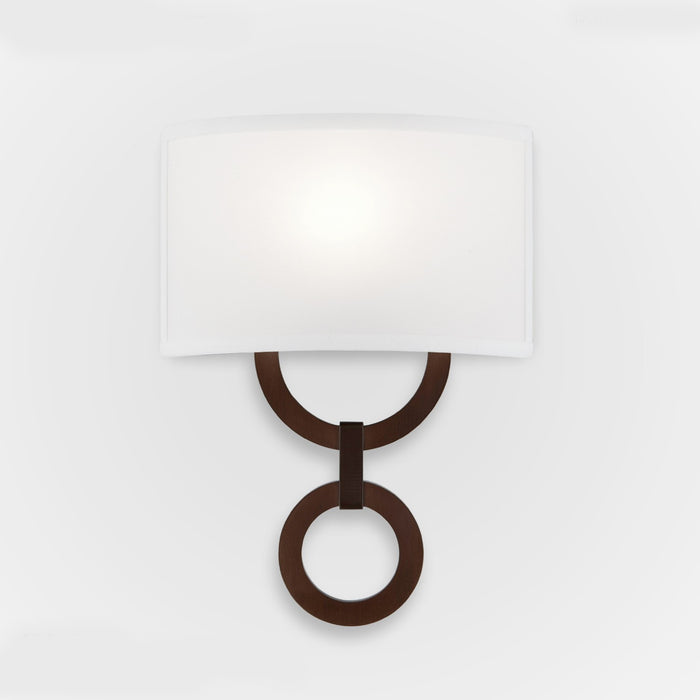 Carlyle Round Link Linen Wall Sconce