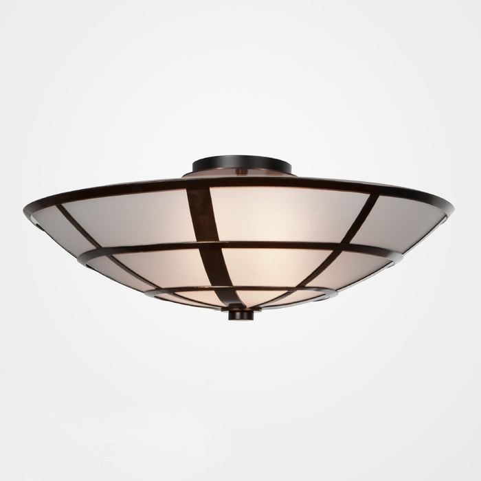 Carlyle Semi-Flush Mount Ceiling Light - Oil Rubbed Bronze