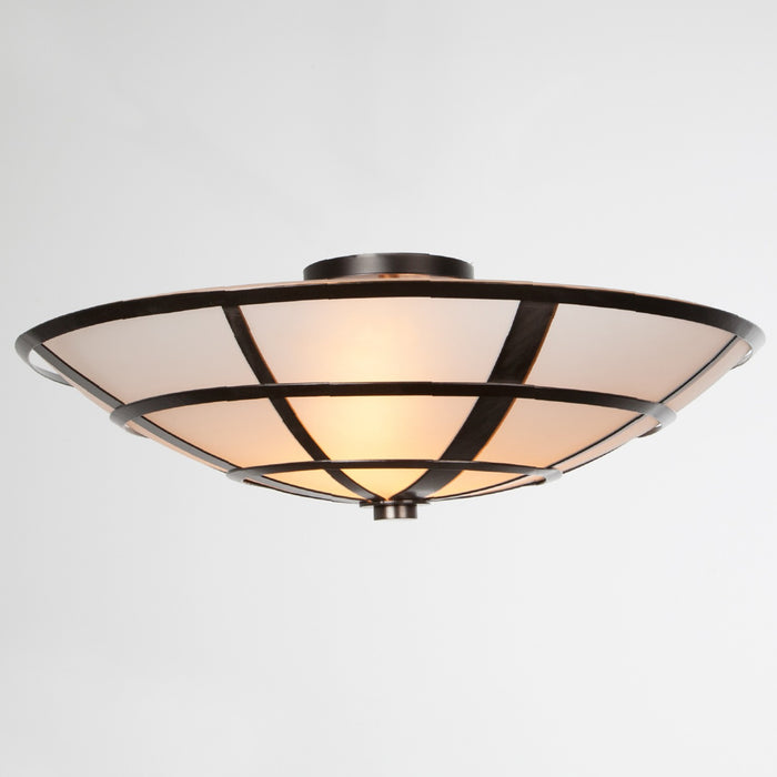 Carlyle Semi-Flush Mount Ceiling Light - Gunmetal