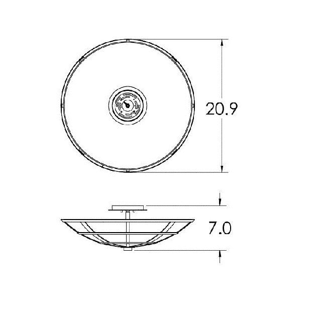 Carlyle Semi-Flush Mount Ceiling Light - Diagram