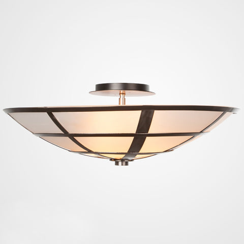 Carlyle Semi-Flush Mount Ceiling Light - Satin Nickel