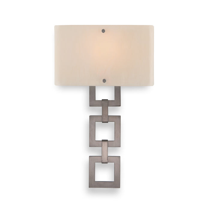 Carlyle Square Link Glass Wall Sconce
