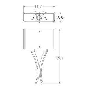 Carlyle Vertex Linen Wall Sconce - Diagram