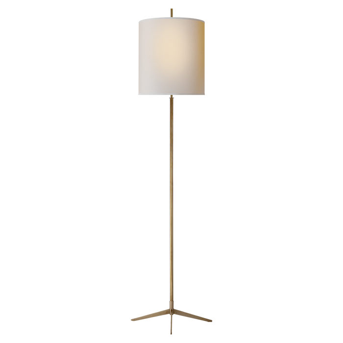 Caron Floor Lamp - Hand-Rubbed Antique Brass