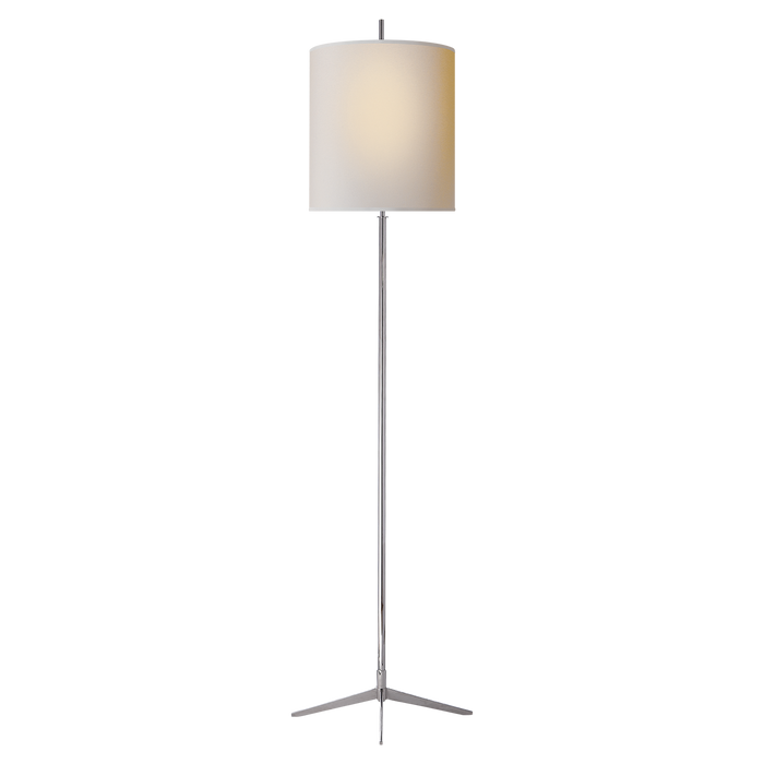 Caron Floor Lamp - Polished Nickel