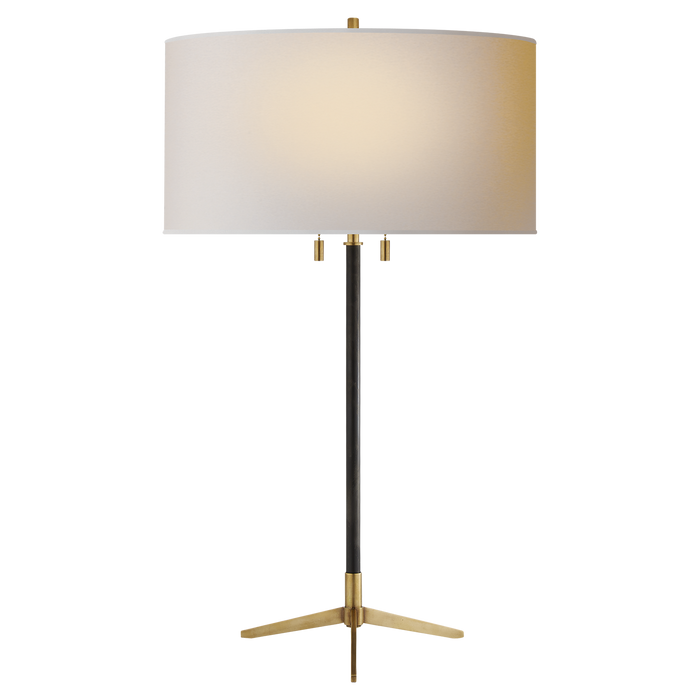 Caron Table Lamp - Bronze with Antique Brass