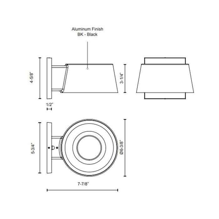Carson LED Outdoor Wall Sconce - Diagram