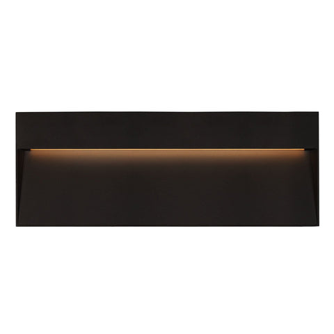 Casa Rectangular LED Outdoor Wall Sconce - Black Finish