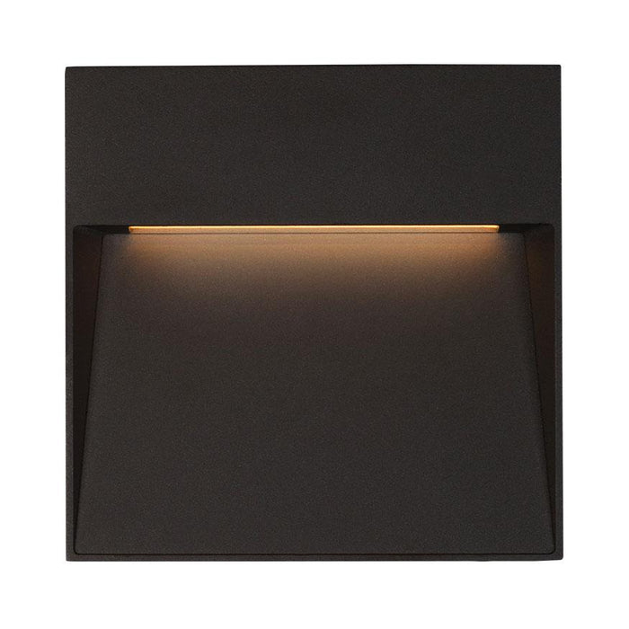 Casa Small Square LED Outdoor Wall Sconce - Black Finish