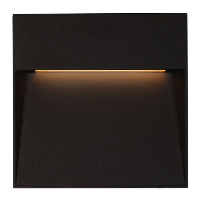 Casa Large Square LED Outdoor Wall Sconce - Black Finish