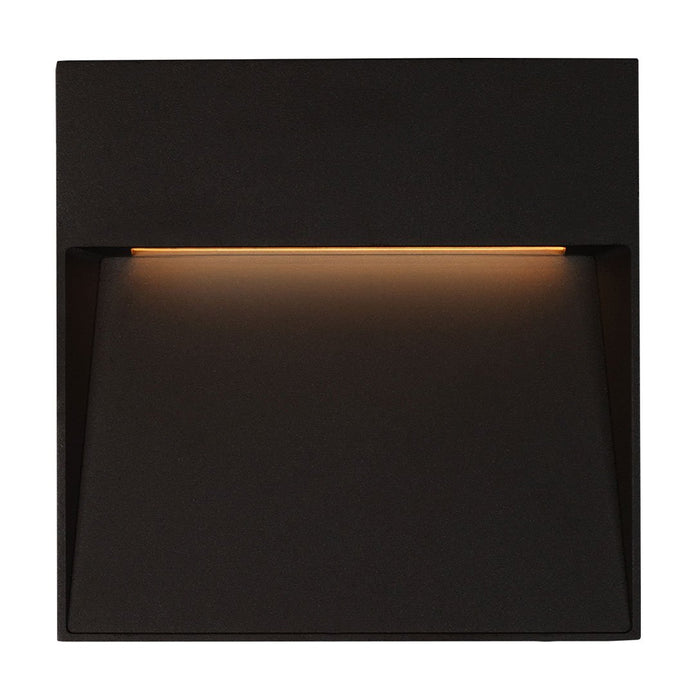 Casa Medium Square LED Outdoor Wall Sconce - Black Finish