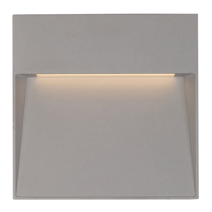 Casa Large Square LED Outdoor Wall Sconce - Gray Finish
