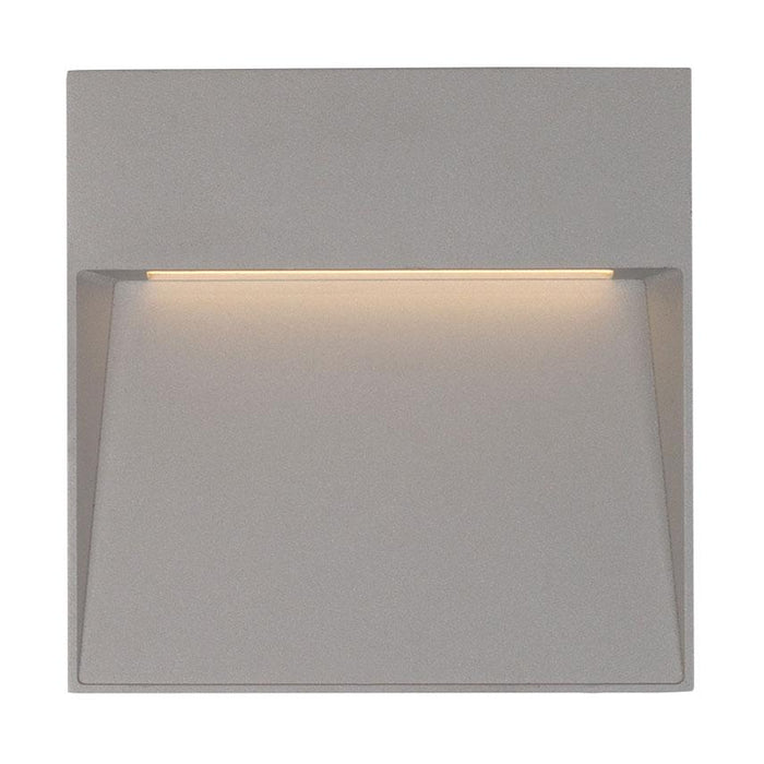 Casa Small Square LED Outdoor Wall Sconce - Gray Finish