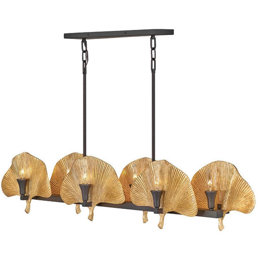 Cera Linear Suspension - Museum Bronze with Cleopatra Gold accents Finish