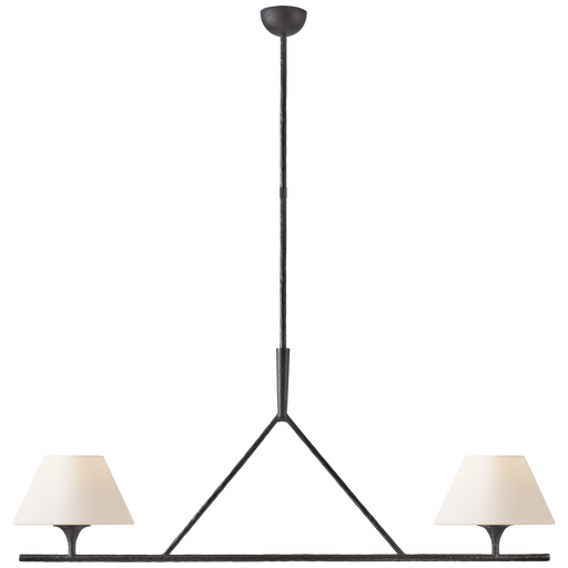 Cesta Large Linear Chandelier - Aged Iron Finish