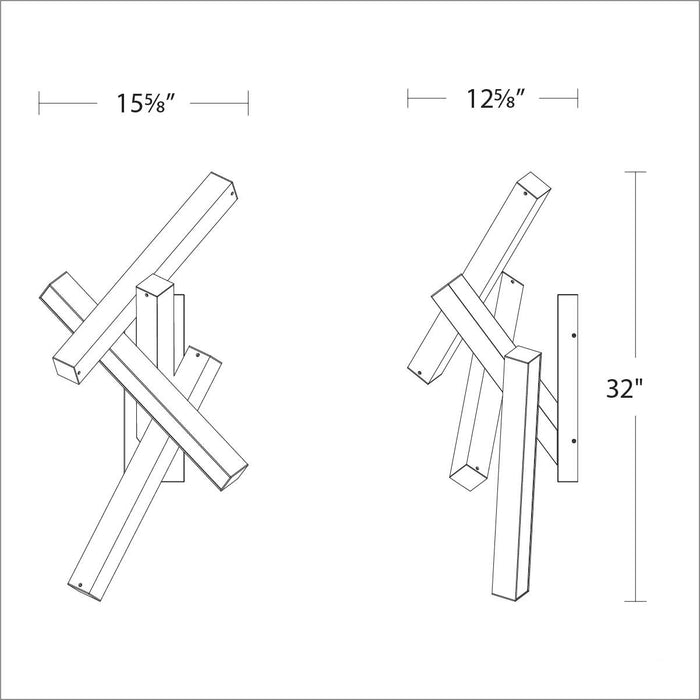 Chaos LED Wall Sconce - Diagram