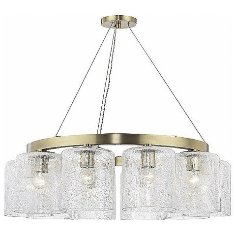 Charles 10 Light Chandelier Aged Brass