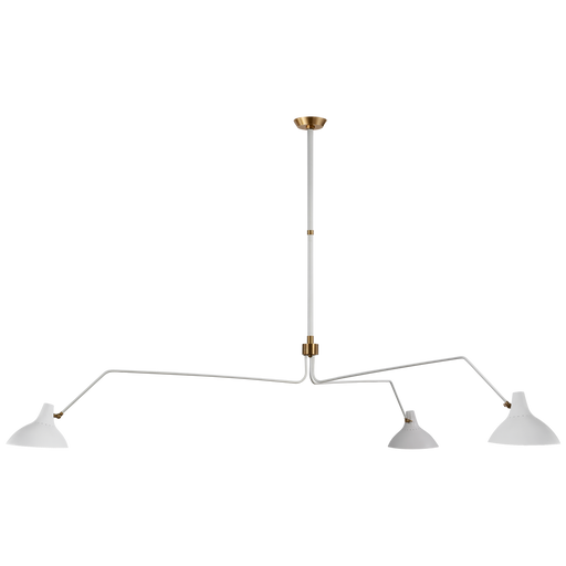 Charlton Grande Triple Arm Chandelier - White Finish