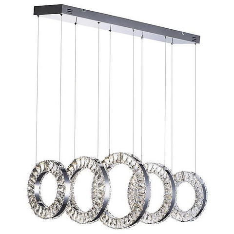 Charm Large LED Linear Suspension - Polished Chrome