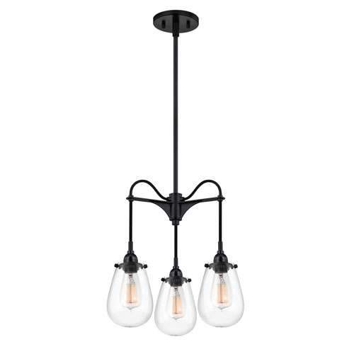 Chelsea 3-Arm Pendant Light - Satin Black