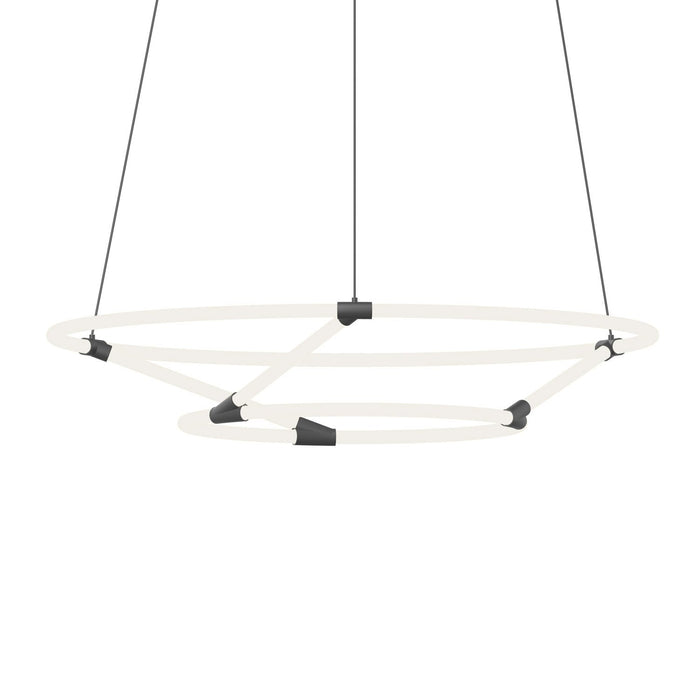 Chicago Large Loop Chandelier - Black Finish
