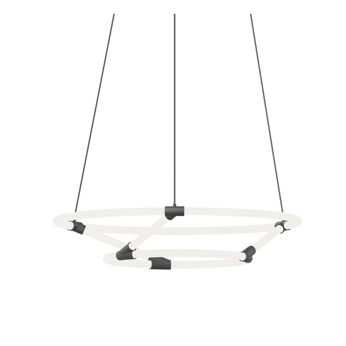 Chicago Small Loop Chandelier - Black Finish