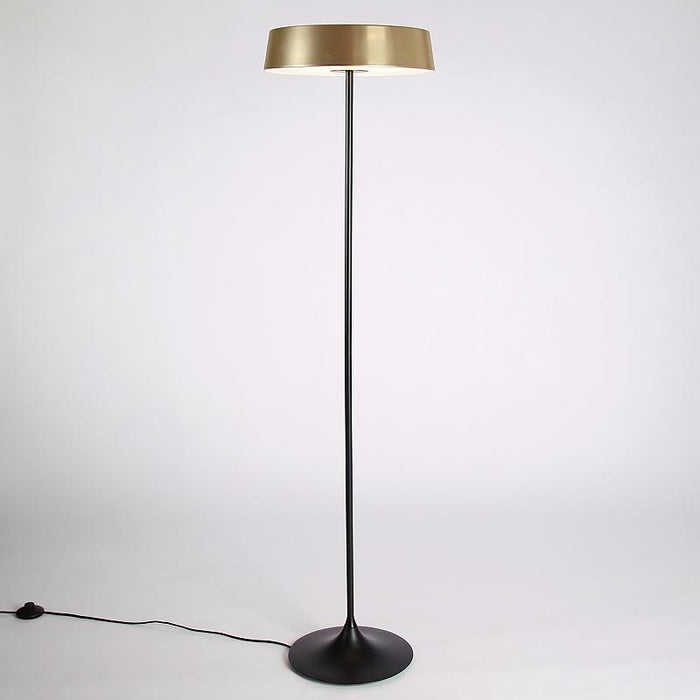 China LED Floor Lamp - Brass Shade