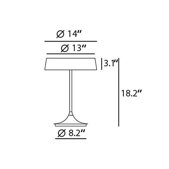 China LED Table Lamp - Diagram