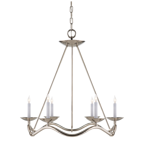 Choros Chandelier Polished Nickel