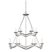 Choros Two-Tier Chandelier Polished Nickel