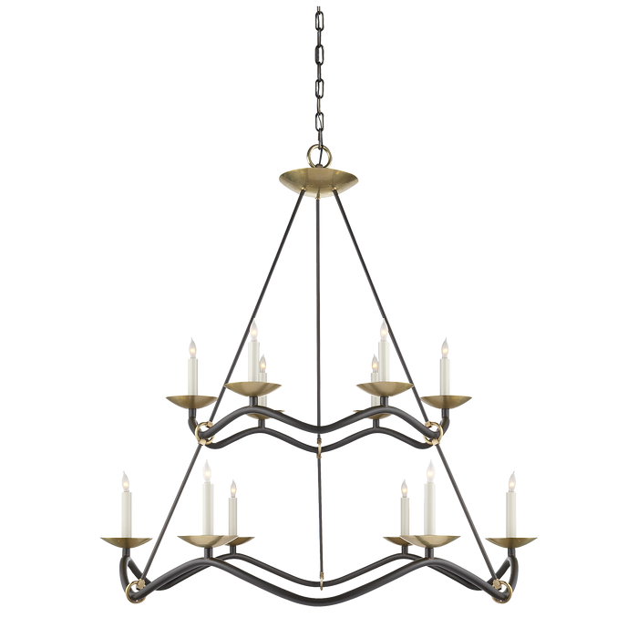 Choros Two-Tier Chandelier Aged Iron