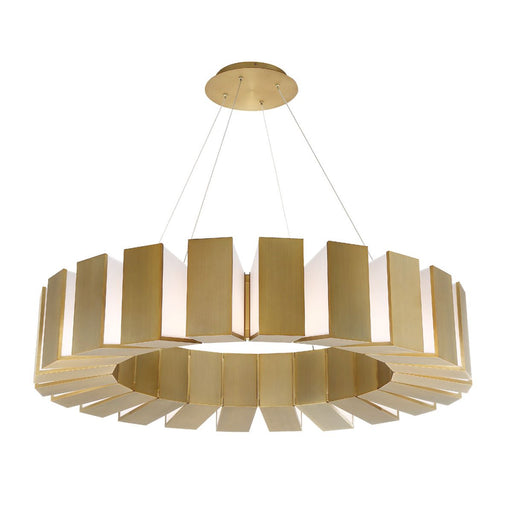 "Chronos 50"" Chandelier - Aged Brass Finish"