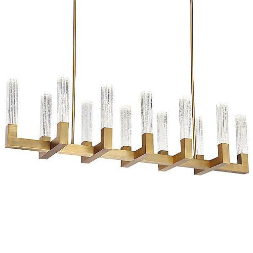 Cinema Linear Suspension Light - Aged Brass Finish